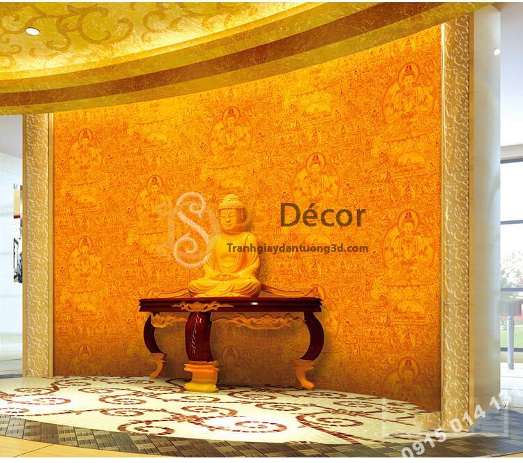 Giấy dán tường phật giáo họa tiết phật tổ 3D305 trang nghiêm