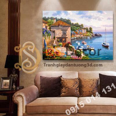 Tranh treo tường phong cảnh cảng biển Mẫu F
