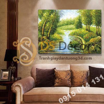Tranh treo tường phong cảnh sông Mẫu H