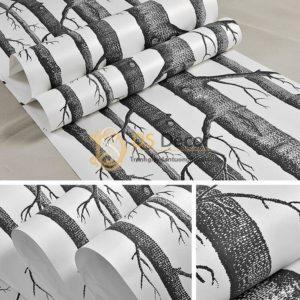 Bề mặt Giấy dán tường thân gỗ đen 3D312