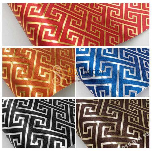 5 màu Giấy dán tường phòng thờ móc vuông 3D318