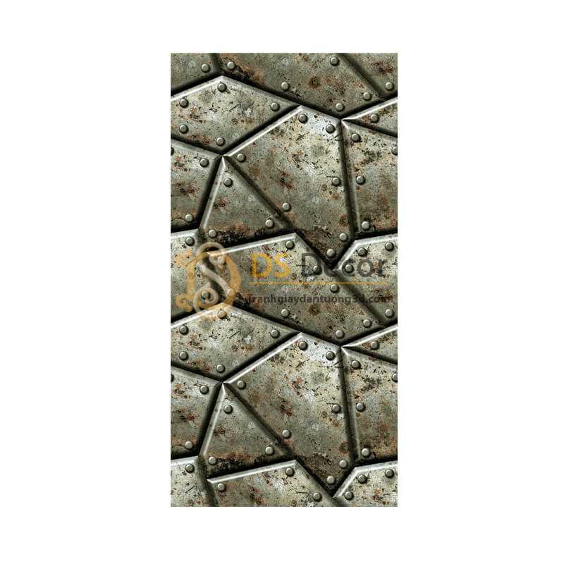 Bề mặt Giấy dán tường giả khôi sắt vintage 3D320