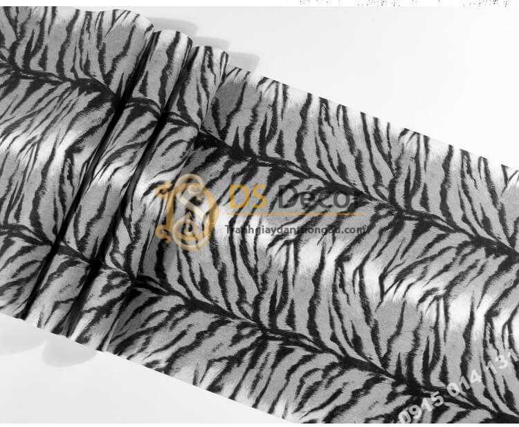 Bề mặt Giấy dán tường họa tiết lông hổ 3D321