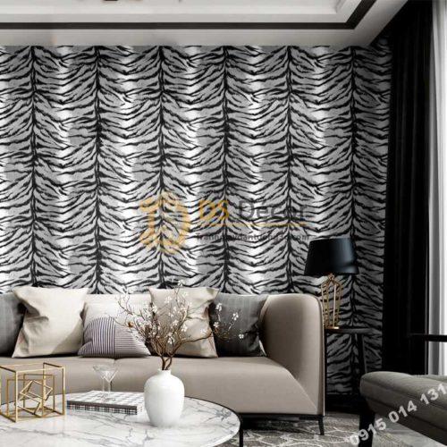 Giấy dán tường họa tiết lông hổ 3D321 dán phòng khách