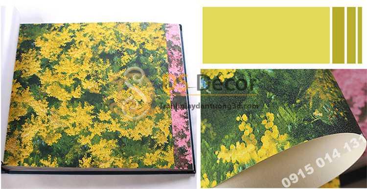 Bề mặt Giấy dán tương hoa osaka vàng 3D323
