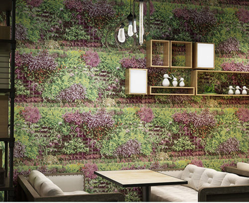 Giấy dán tương bụi cỏ 3D324 trang trí quán cafe trà sữa