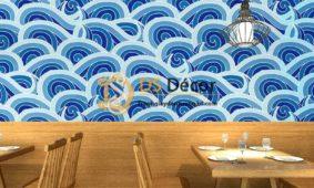 Trang trí nhà hàng kiểu Nhật với giấy dán tường phong cách Nhật Bản DS Decor
