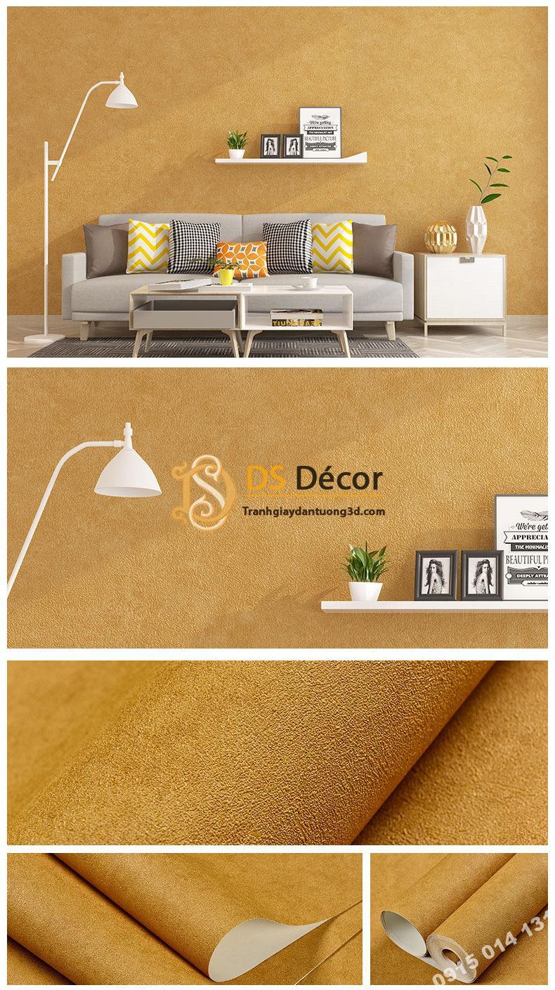 Giấy dán tường màu cam PVC H7104 - 3D329