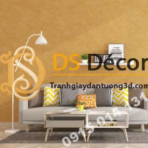 Giấy dán tường màu cam PVC H7104 phòng khách - 3D329