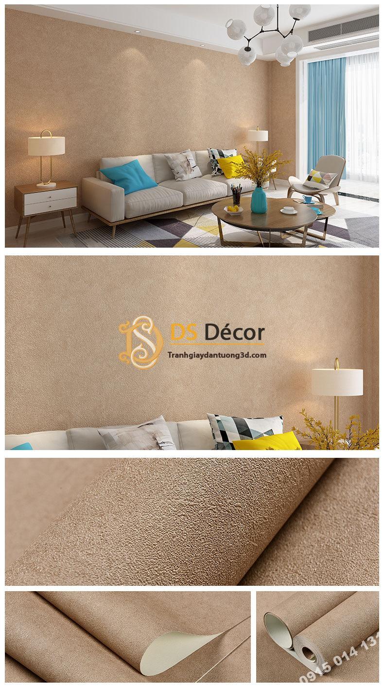 Giấy dán tường màu nâu nhạt PVC H7106 - 3D329