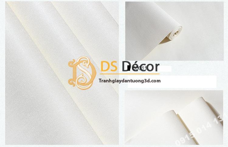 Giấy dán tường một màu trơn nhám PVC trắng 60011 - 3D330