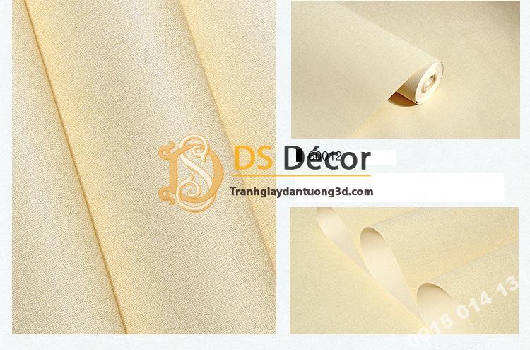 Giấy dán tường một màu trơn nhám PVC vàng nhạt 60012 - 3D330