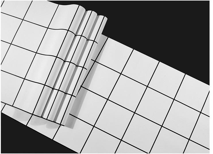 Giấy dán tường caro ô vuông 3D088