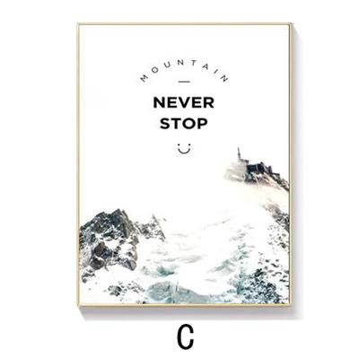 Tranh treo tường chữ Never top