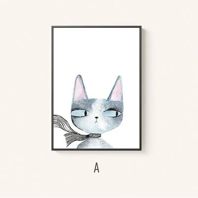 Tranh treo tường con mèo lườm