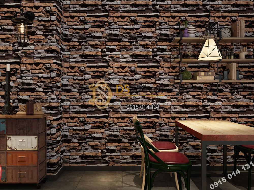 Giấy dán tường Hàn QUốc NATURE giả đá đen-73004-1
