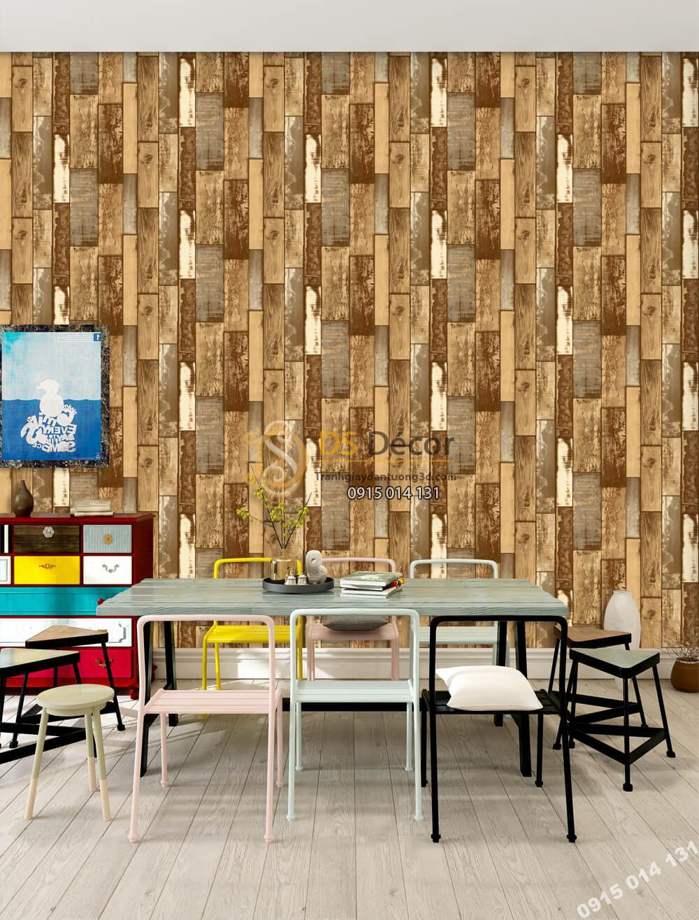 Giấy dán tường Hàn QUốc NATURE giả gỗ vintage 73012-4