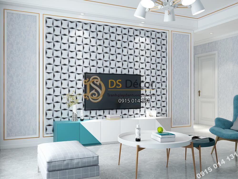 Giấy dán tường Hàn QUốc NATURE khối trắng 3D -73006-8+73006-7AB