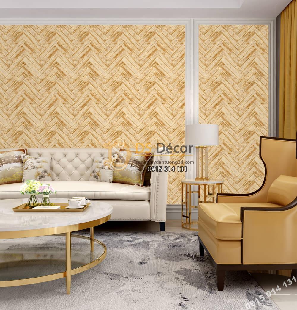 Giấy dán tường Hàn QUốc NATURE mành cói vàng nâu 73010-3