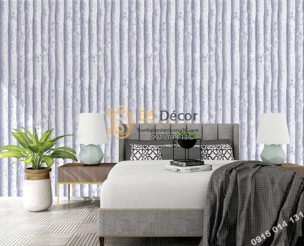 Giấy dán tường Hàn QUốc NATURE thân gỗ trắng mờ 73014-1