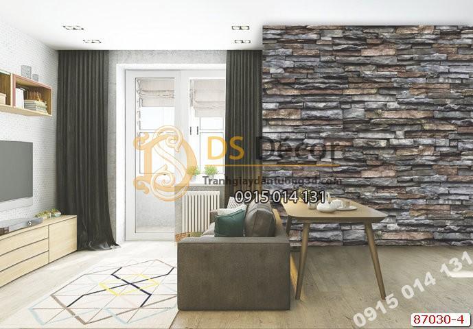 Giấy dán tường giả đá vỡ Hàn Quốc NATURAL 87030-4