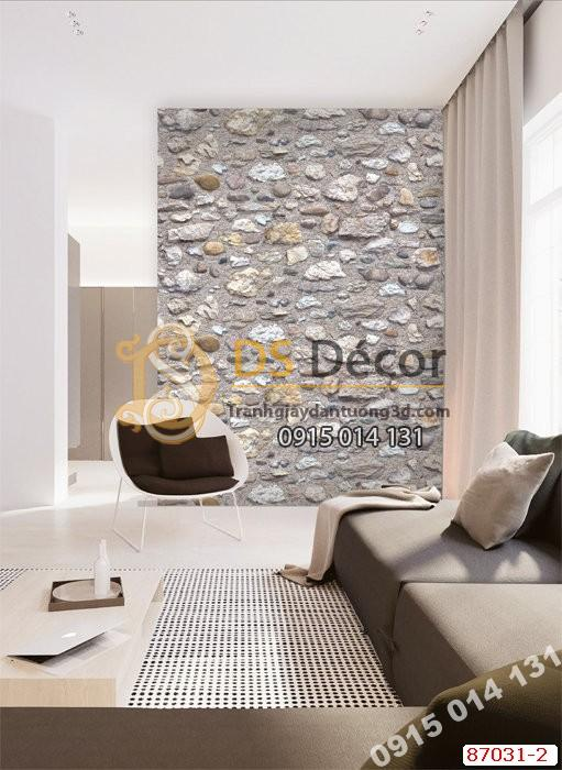 Giấy dán tường giả đá vỡ Hàn Quốc NATURAL 87031-2