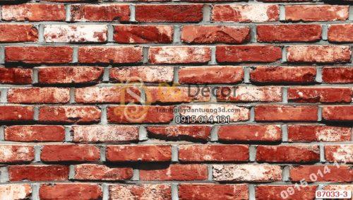 Giấy dán tường Hàn Quốc NATURAL tường gạch 87033-3