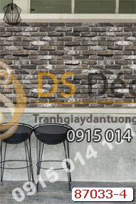 Giấy dán tường giả gạch đen Hàn Quốc NATURAL 87033-4