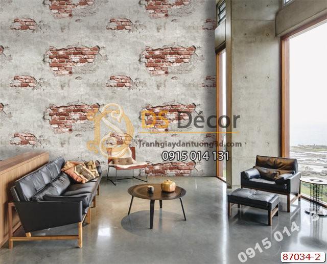Giấy dán tường gạch lở vữa Hàn Quốc NATURAL 87034-2