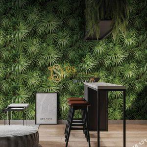Giấy dán tường Hàn Quốc Natural lá cây tropical 88425-2 tropical
