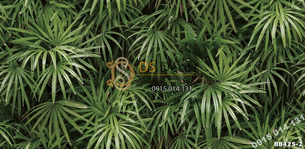 Bề mặt Giấy dán tường Hàn Quốc Natural lá cây tropical 88425-2