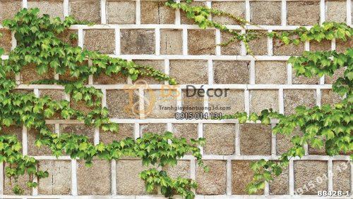 Bề mặt Giấy dán tường Hàn Quốc Natural tường gạch dây leo 88428-1 KG