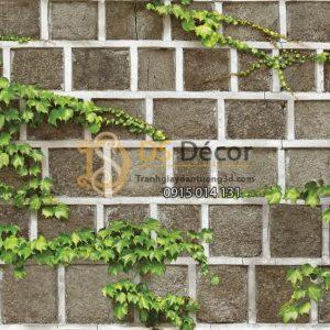 Bề mặt Giấy dán tường Hàn Quốc Natural tường gạch dây leo 88428-2 KG