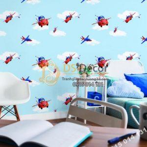 Giấy dán tường Hàn Quốc trẻ em Dream World D5070-1 phối cảnh