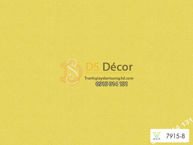 Giấy dán tường Hàn Quốc hiện đại một màu vàng chanh mã 7915-8