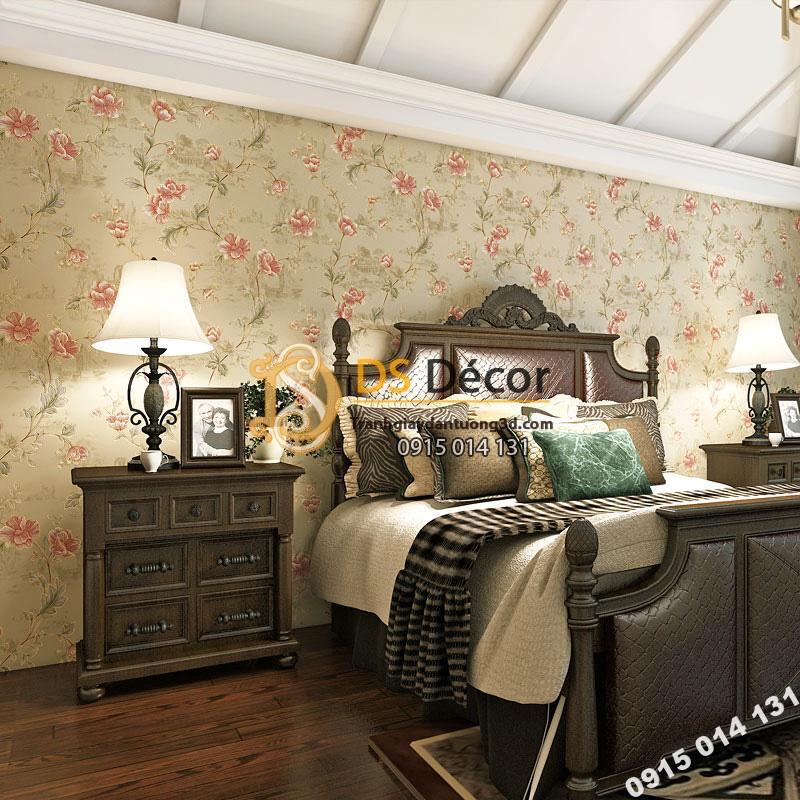 Giấy-Dán-Tường-hoa-hồng-Kiểu-Continental-Damascus-3D193-trang-trí-phòng-ngủ