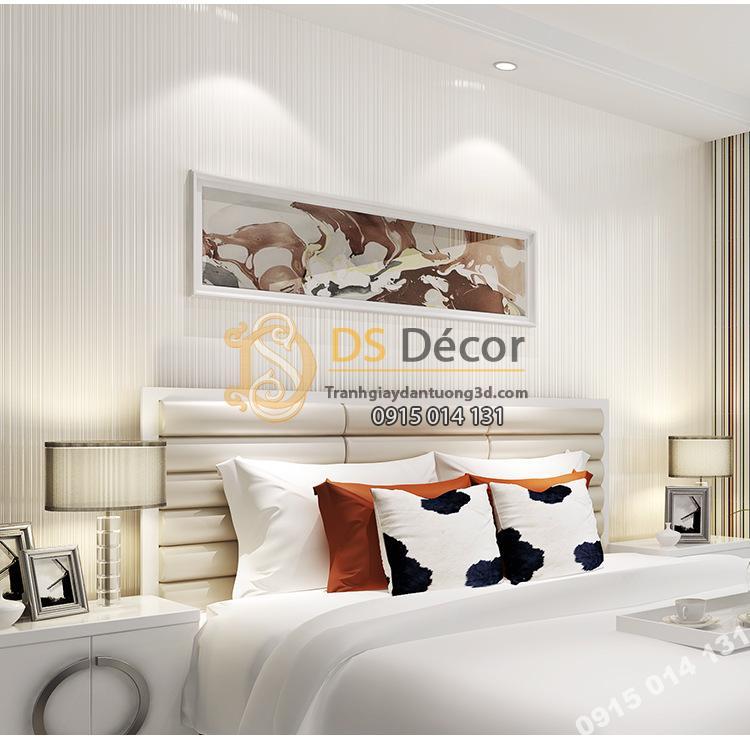 Giấy dán tường 1 màu trắng giá rẻ 199k phòng ngủ 1