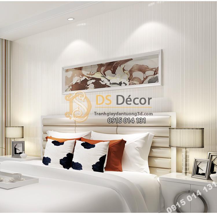 Giấy dán tường 1 màu trắng giá rẻ 199k phòng ngủ 2
