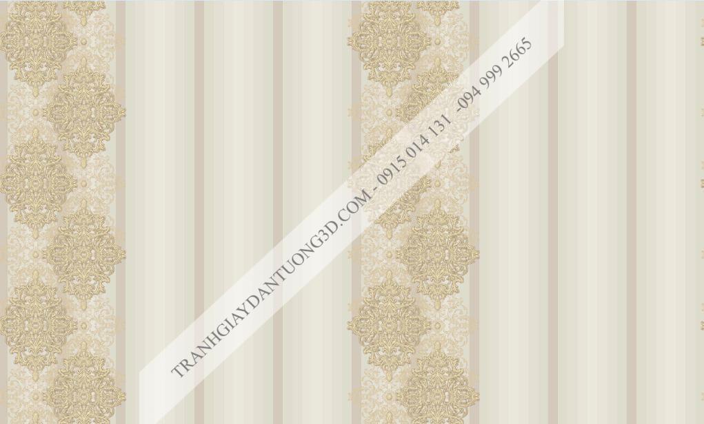 Giấy dán tường Graziella hoa tân cổ điển kết hợp sọc dọc mã 9694