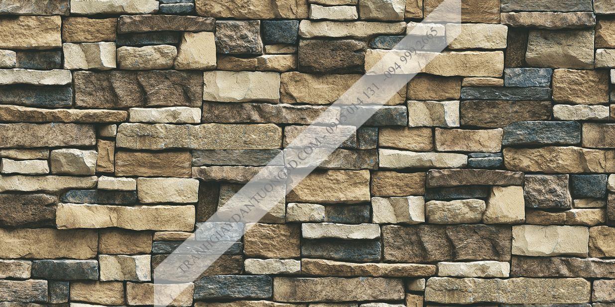 Giấy dán tường giả đá Sole mã 27111