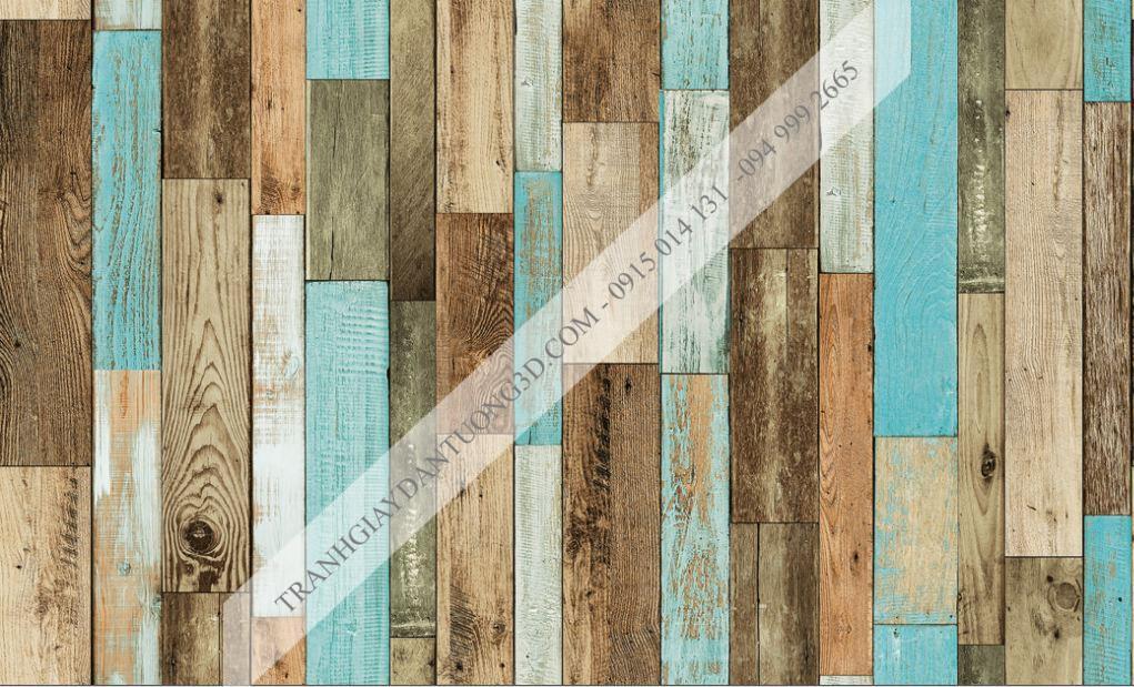 Giấy dán tường giả gỗ ghép Sole 27121