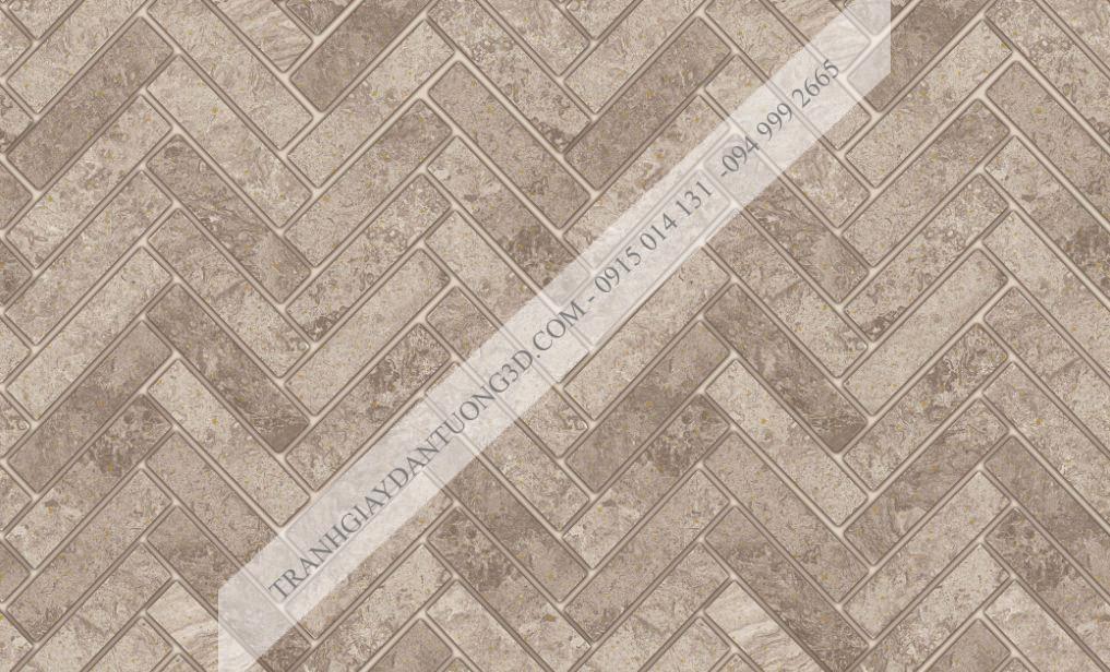 Giấy dán tường giả vân gạch nâu đậm đan chéo 23065