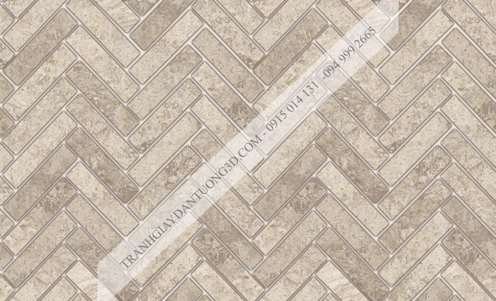 Giấy dán tường giả vân gạch nâu đan chéo 23064