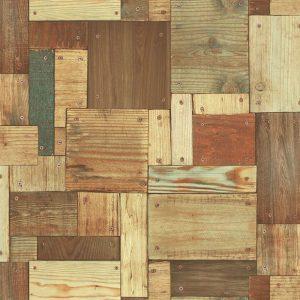 Giấy dán tường họa tiết gỗ ghép đóng đinh Sole mã 27131