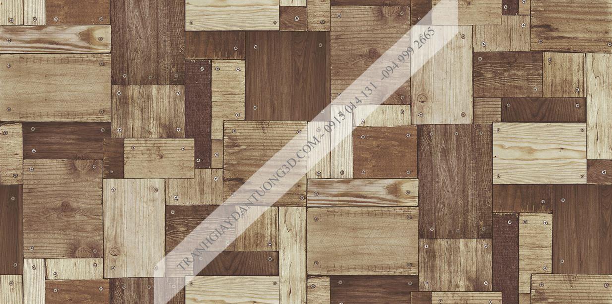 Giấy dán tường họa tiết gỗ ghép đóng đinh Sole mã 27132