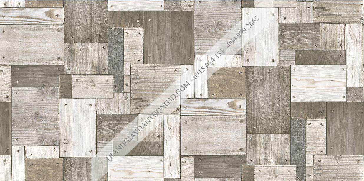 Giấy dán tường họa tiết gỗ ghép đóng đinh Sole mã 27133