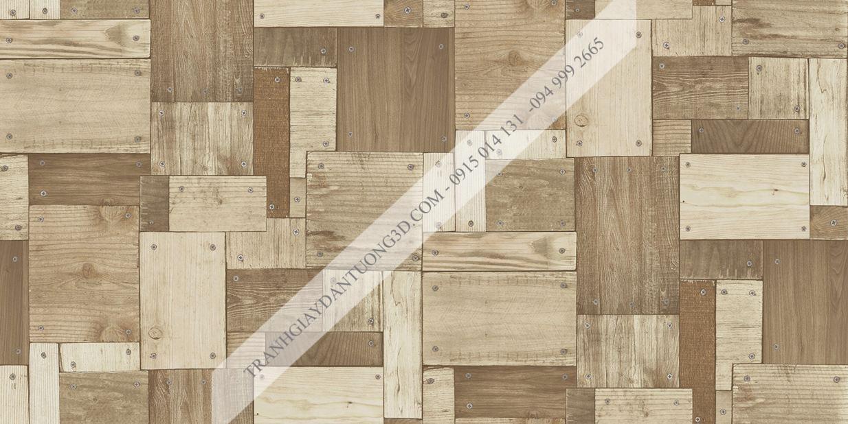 Giấy dán tường họa tiết gỗ ghép đóng đinh Sole mã 27134