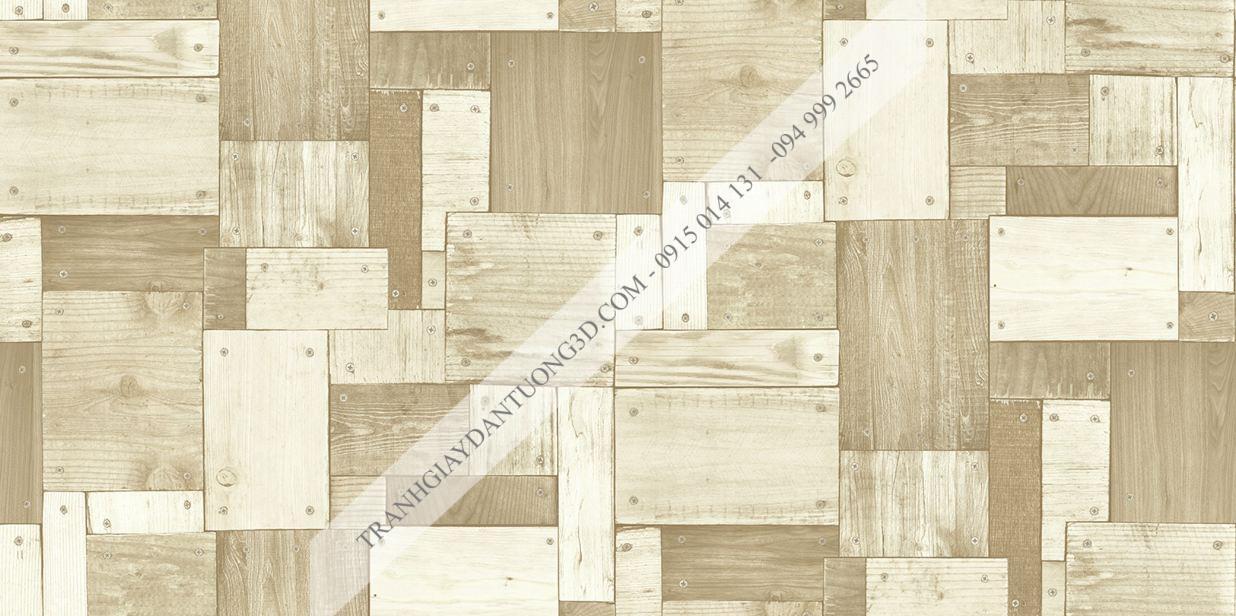 Giấy dán tường họa tiết gỗ ghép đóng đinh Sole mã 27135
