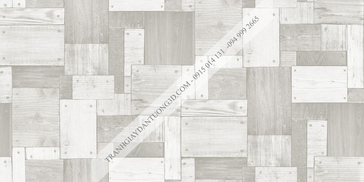 Giấy dán tường họa tiết gỗ ghép đóng đinh Sole mã 27136