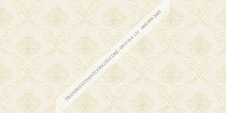 Giấy dán tường hoa châu âu màu be 23044